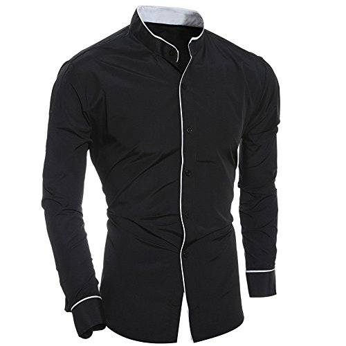 UJUNAOR Herren Pullover V-Ausschnitt Feinstrick Pullover Herren Hoodie -
