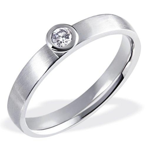 Goldmaid Damen-Ring 14 Karat (585) Weißgold Diamant Gr.58 (18.5) So R4820WG58 Verlobungsring Diamantring