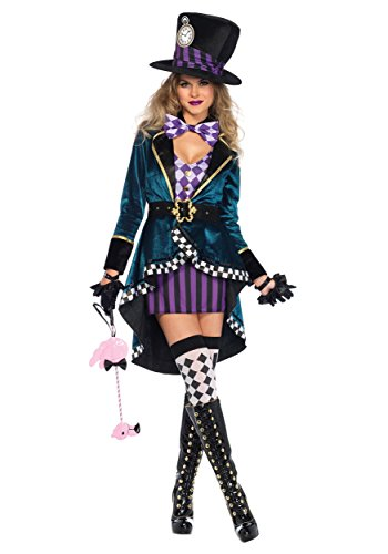 Leg Avenue Women's Delightful Hatter Fancy Dress Costume X-Small