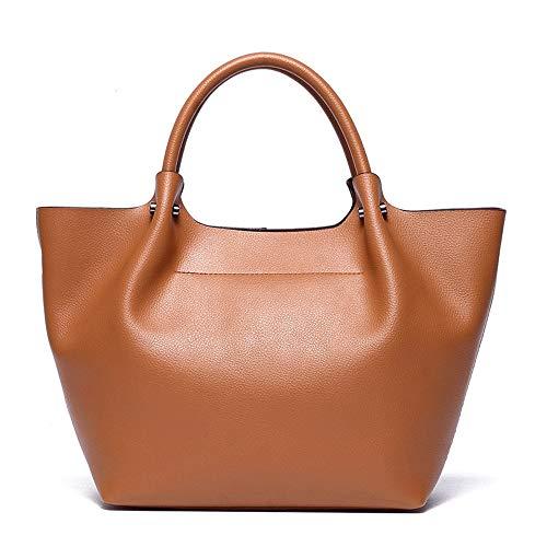 Kieuyhqk Frauen-lederne Schulter-Oberseite-Griff-Handtaschen-Einkaufstasche mit der beiläufigen Handtasche der entfernbaren Bügel-mehrfachen Farben-Frauen Schulter-Handtasche