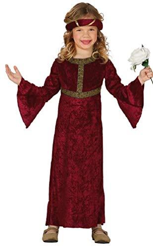Fancy Me Mädchen-rot Renaissance Mittelalterliche Prinzessin Juliet Kostüm Kleid Outfit 3-12 Jahre - Rot, 5-6 Years