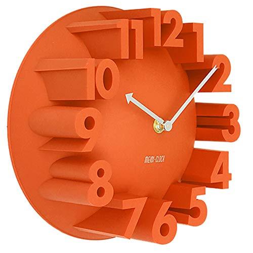 tal Quarzuhren Modernes Design Art Deco Dome Runde Uhren Uhren Wohnkultur,Orange ()