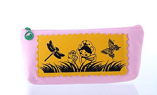 Eudola Trousse Sac à Stylo Mignon Filles Créatif Sac de Papeterie Sac de Rangement Cosmétique pour Enfants Adolescents Étudiants Rose Eudola
