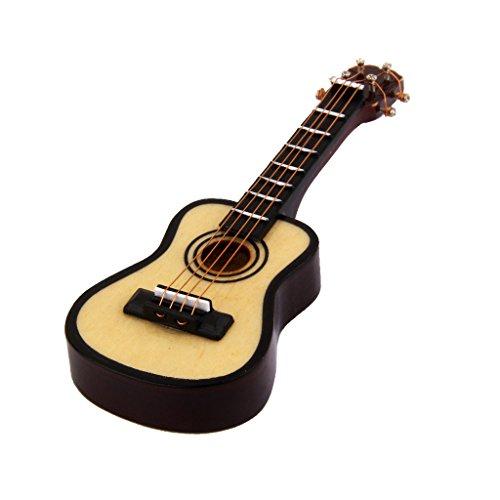 Doce Minutos Despues De La Una Casa De Munecas Instrumento De M¨²sica Miniatura Guitarra Clasica