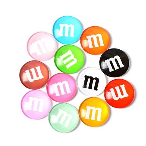 Arabby Magnete Quadratische Bunte Kristall M Glasmagnete für Küche Büro, Kühlschrank Magnet, Kühlschrankmagnete für Whiteboard und De trocken löschen Board Multicolor niedlich Spaß koration (12 Pack) - Magnet Löschen-board Trockenen