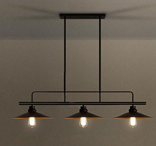 Bronze-feder-wand-beleuchtung (Sai Tai@LED Pendelleuchte Höhenverstellbar Küchen Deckenleuchte Wohnzimmer Designleuchte Deckenlampe Schlafzimmer Modern ,schwarz,Eisen,90cm*90cm)