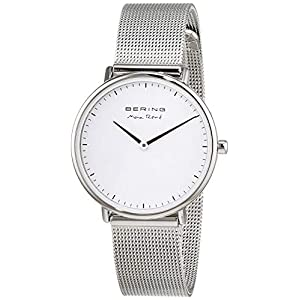 BERING Damen Analog Quarz Uhr mit Edelstahl Armband 15730-004