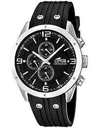 Lotus 15969/4 - Reloj de pulsera hombre, Caucho, color Negro