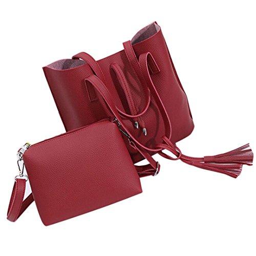 feitong-lot-de-2-sacs-pour-femmes-en-cuir-vintage-sac-a-main-sac-a-bandouliere-pochette-rouge