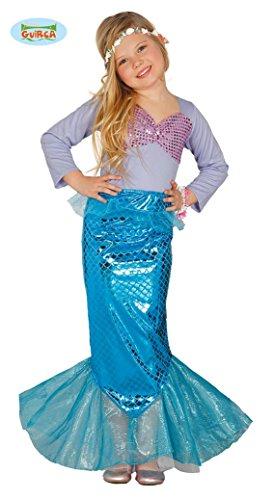 Kostüm Meerjungfrau für Mädchen Nixe Meerjungfraukostüm Kinderkostüm Gr. 110-146, (Piraten Kostüme Meerjungfrau)