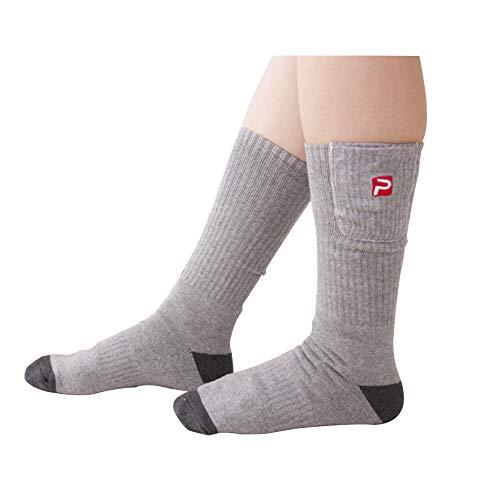 Beheizter Ski-socken (DZX Elektrische Beheizte Socken/Aufladbare Beheizte Socken, Fußwärmer - Für Wintersport Camping Wandern Und Ski Unisex)