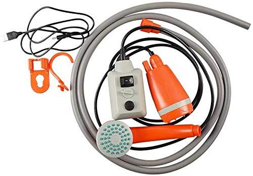 Dengofng Tragbar Zelten Dusche, Zelten Dusche Pumpe mit Abnehmbaren USB Wiederaufladbare Batterie, Einfach Durchfluss Rate für Bequem Baden - grau, Free Size
