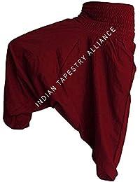 Pajama Yoga Pants Exclusive Trousers & Capris Pajama Indian Boho Hippie Ali Baba Baggy Pants Women Trousers Boho...