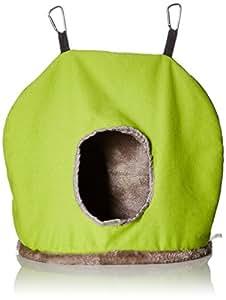 PREVUE PET PRODUCTS BPV1165 Plastic/Fleece Snuggle Sack Bird Nest, Jumbo