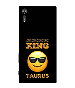 PrintVisa Designer Back Case Cover for Sony Xperia XR (Zodiac sign Stylish Attitude Lucky Taurus)