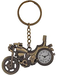 Gratitude Bike Theme Designer Pocket Watch Vintage Clock Metallic Keychain / Key Chain / Keyring / Key Ring
