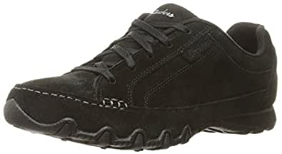 Skechers Women's Relaxed Fit Bikers Curbed Oxford,Black,US 12 W