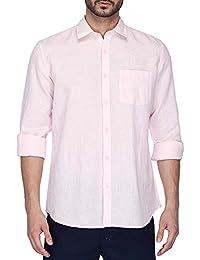 STOP to start by Shoppers Stop Mens Regular Collar Slub Shirt