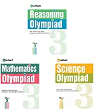 Reasoning Olympiad Class 3rd + Mathematics Olympiad For Class 3rd + Science Olympiad Class 3rd (Set of 3 Books