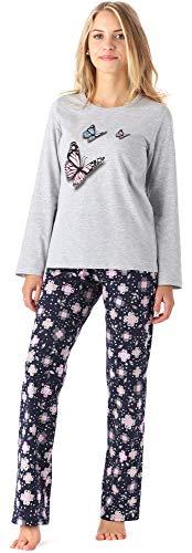 Merry Style Mädchen Jugend Schlafanzug MS10-192 (Melange Blumen, 176)