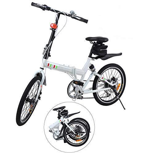 Ridgeyard Bicicleta Plegable 20 Pulgadas de 6 velocidades Bici Plegable + Luz...