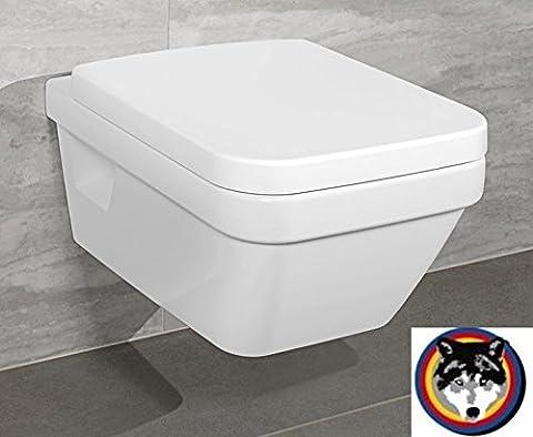 Villeroy & Boch Wand-WC Combi-Pack Architectura PLUS , DirectFlush, Spülrandlos C-plus