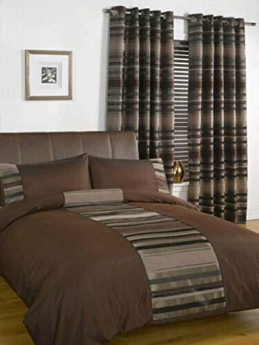 zlzty Seide Bettwäsche-Sets doppelt, Faux Silk Duvet Set Bettwäsche Dekorative Bettbezüge, Einzelbettbezüge, Kingsize-Bettwäschesatz @ Chocolate_Double -