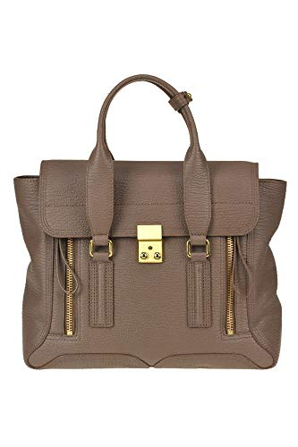 3.1 Phillip Lim &Pashli medium& Grainy Leather Satchel Bag Woman Dove-Grey unica int.