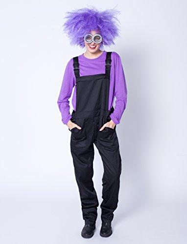 Latzhose schwarz XXL (2XL) (Kostüm Erwachsene Lila Für Minion)