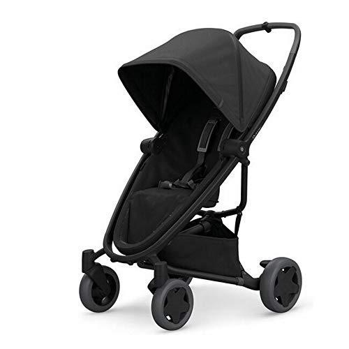 Quinny Zapp Flex Plus, Passeggino Leggero e Compatto, reversibile fronte strada e fronte mamma, reclinabile, 4 ruote grandi, colore Black on Black