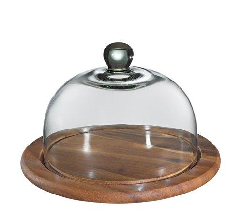 Zassenhaus 55863Quesera con Tapa de Cristal, Acacia 25cm