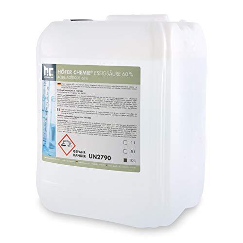 1 x 10 L Essigsäure 60% - VERSANDKOSTENFREI - frisch abgefüllt im handlichen 10 L Kanister