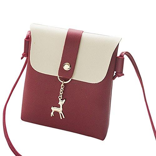 PU Leather Shoulder Bag, JOSEKO Women Crossbody Bag Mini Crossbody Bags Cell Phone Bag For iPhone 6 Plus 7 Plus Girls Purse For Traveling