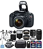 Best Selling Canon EOS Rebel T5 Digital Camera EF-S 18-55mm f/3.5-5.6 IS II Lens & Canon EF 75-300mm f/4-5.6 III Lens Full Bundle be sure to Order Now