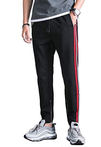 fdcdcee0746f5b Kuulee Homme Pantalon de Sport Jogging Fitness Survêtement Homme Décoration  Rayée