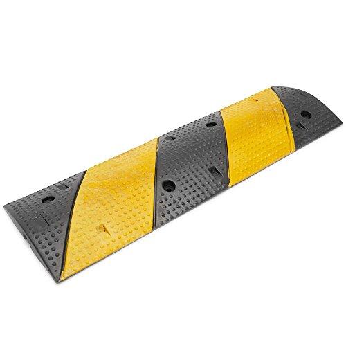 PrimeMatik - Boden Kabel Protector Kabelführungs-Cover Gummi mit Rampe 1-Wege 99x30cm Geschwindigkeits-Buckel