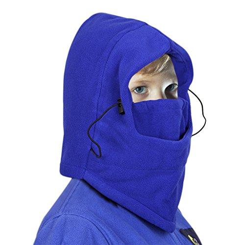 Kinder Sturmhaube, Junge Gesichtshaube Mädchen Balaclava Kältemaske Skimaske 2 Doppelschichten verdünnen warme Fleece verdicken Kapuze Skimaske Hut | 00615068384643