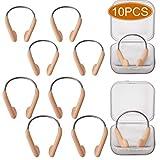 SAVITA Protecteur de Nez en Silicone imperméable pour Pince-Nez de Natation pour Adultes, Enfants utilisant la Formation, Beige (10 PCS)
