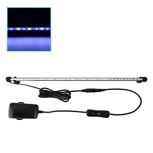 NONMON LED Aquarien Beleuchtung Aquarium Lichter, Fisch Tank Lichter Tauchlampe Blau Weiß Licht 69cm/27 Zoll - Tag-nacht-licht