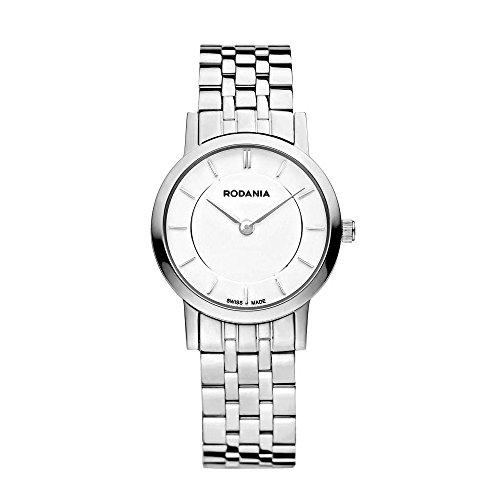 Rodania 25046–40–Uhr für Frauen, Edelstahl-Armband Silber