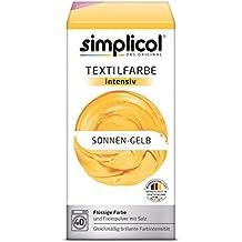 Simplicol Textilfarbe intensiv I Textilfärbung für die Waschmaschine I Färbemittel und Fixierpulver | Sonnen-Gelb 1801