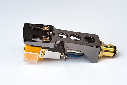 Spiegel Titan beschichtet Schale, Halter mit AT Tonabnehmer, Nadel für Technics SL 1000, SL 1100, SL 1200, SL 1210, SL 1300, SL 1301, SL 1310, SL 1350, SL 1400, SL 1401, SL 1410