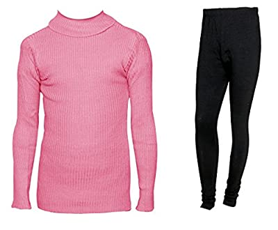 IndiWeaves Womens Combo Pack for Winter (Pack of 1 Warm Wollen Legging and 1 Warm Wollen High Neck T-shirt/Skivvy/Inner)_71505-10110-06-IW-P2