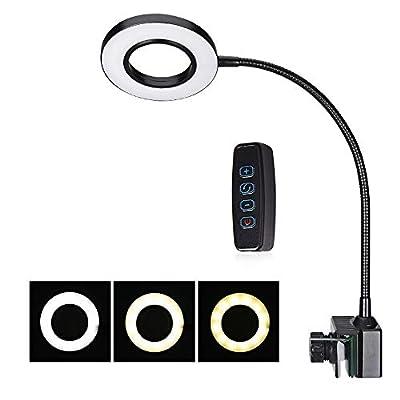 La Lumière D'aquarium De LED, Lumière D'aquarium Avec 360 ° Réglable, 10brightness, Récif De Corail Planté De Réservoir D'eau Douce D'eau De Mer, Interface USB, Tension 110--220v,Black,WhiteLight