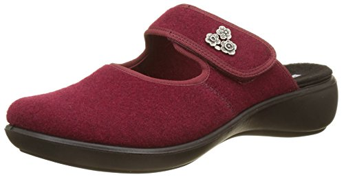 Romika Damen Ibiza Home 330 Pantoffeln, Rot (Bordo 410), 38 EU
