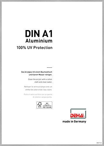 DEHA Aluminium Bilderrahmen Tribeca, 59,4x84,1 cm (A1), Struktur Silber Matt