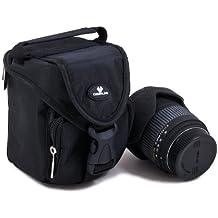 Case4Life SLR DSLR Medium Lens Carry Case Bag for Canon EF EF-S Lenses 55-250mm f4-5.6 IS, 75-300mm, EF 100mm - Lifetime Warranty