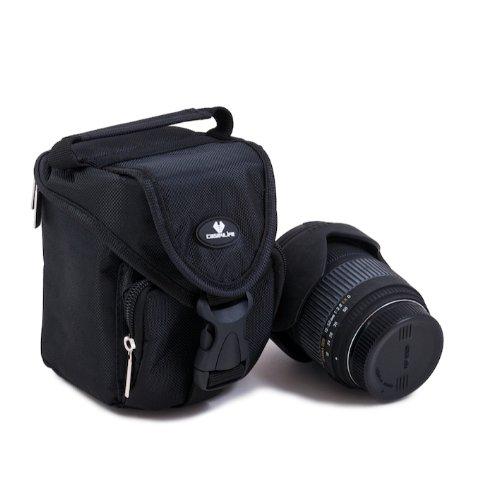 Case4Life SLR DSLR Medium Objektiv-Tragetasche Stoßschutz Tasche für Canon EF EF-S Lenses 55-250mm f4-5.6 IS, 75-300mm, EF 100mm - Lebenslange Garantie Lens Case Medium