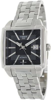 Tissot quadrato T0055071106100 automático, correa de acero inoxidable color gris