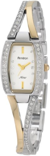 Armitron Women's 75/3856SVTT Swarovski Crystal Accented Two-Tone Bangle Watch